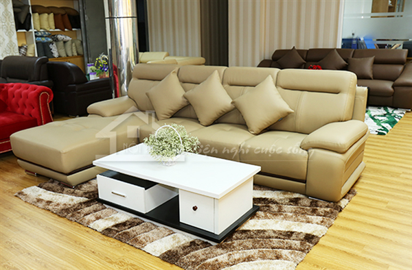 Ghế sofa da cho phòng khách gia đình thêm sang trọng