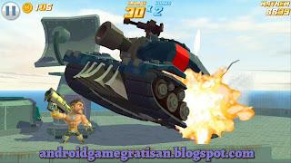 Namun kali ini mempunyai gameplay ala game populer jamannya Arcade dan PS  Game:  Major Mayhem apk