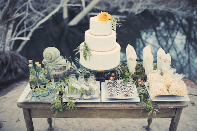 bride+groom+bridal+dress+gown+floral+hair+wreath+rustic+woodland+ecofriendly+eco+friendly+green+emerald+color+of+the+year+pantone+cake+dessert+table+reception+centerpiece+blue+hipster+fall+autumn+gideon+photography+22 - Woodland Fairytale