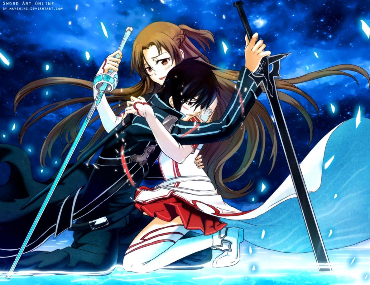 Sword Art Online Kirito Asuna Desktob Backgrounds Wallpapers