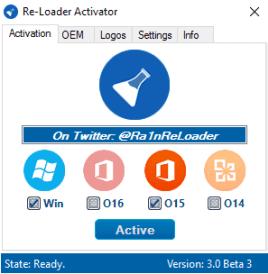 اداة Re-Loader v3.0 Beta 3 لتفعيل جميع نسخ الويندوز والافيس