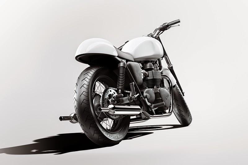 Download Triumph Bonneville Cafe Racer Free 3D Model