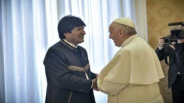 Papa Francisco se reúne en audiencia privada con Evo Morales