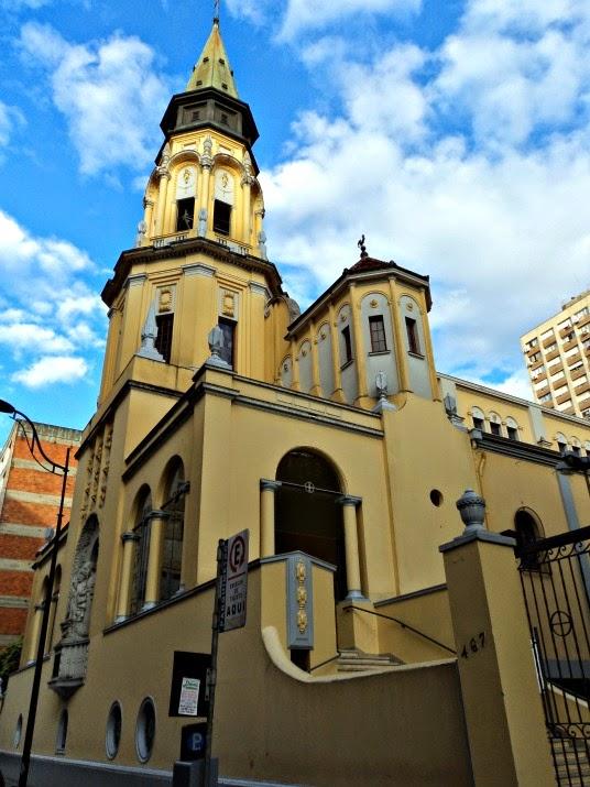 A Igreja de São José, em Porto Alegre. Também é conhecida como Igreja dos Alemães