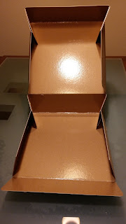 caja kraft marrón interior plastificado