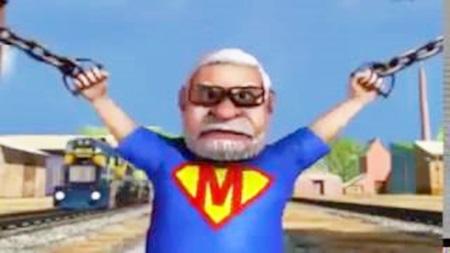 PM Modi Animated Video Superstar Version
