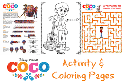 Coco movie printable activities