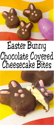 Pop these yummy Easter bunny chocolate covered cheesecake bites in your mouth and you'll be savoring the perfect side of Easter. For what says Easter more than bunnies and chocolate? You'll love how easy and delicious these no bake chocolate cheesecake bites are.