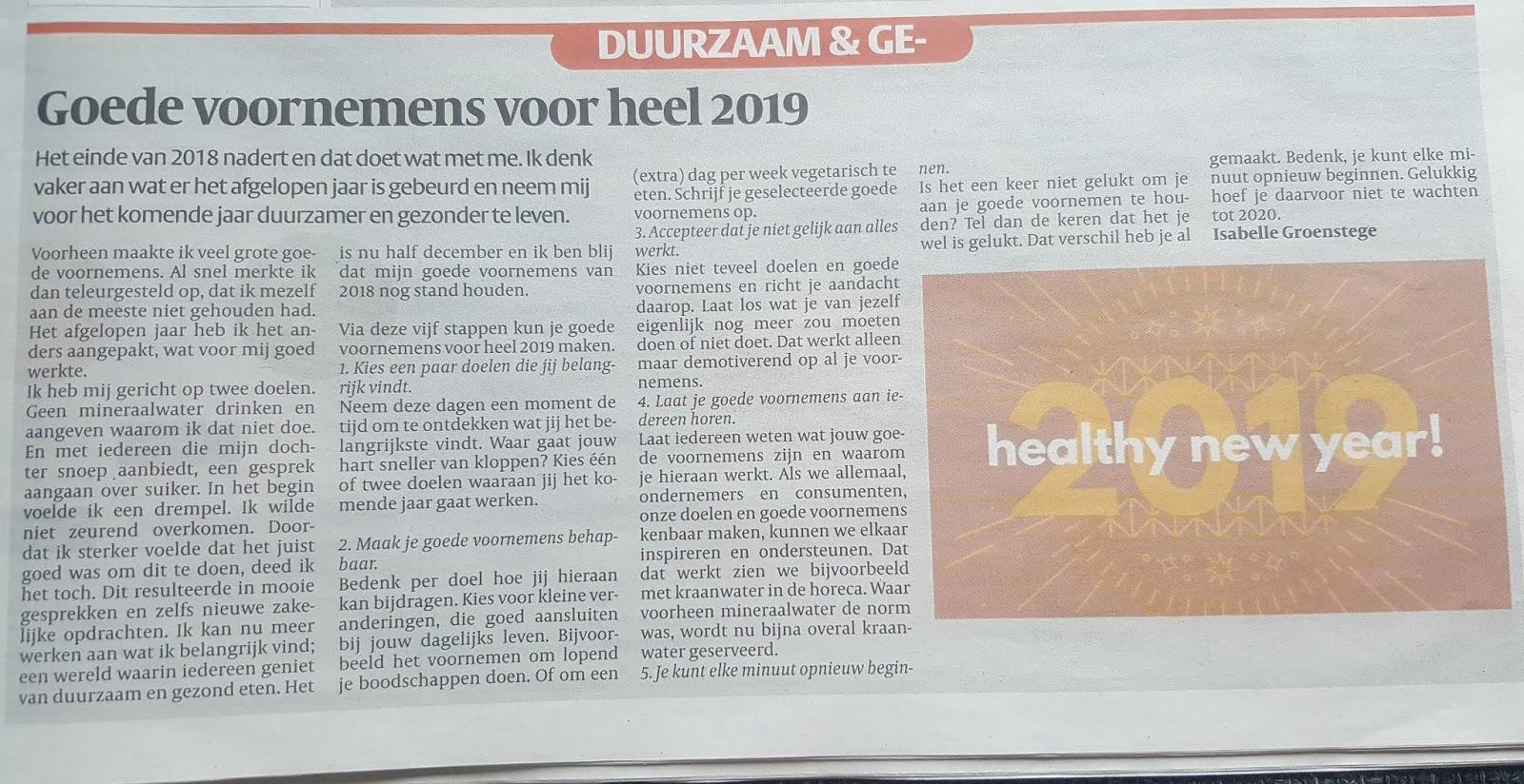 My Foodstyle Voedingsadvies Noordwijk Goede Voornemens Voor Heel 2019