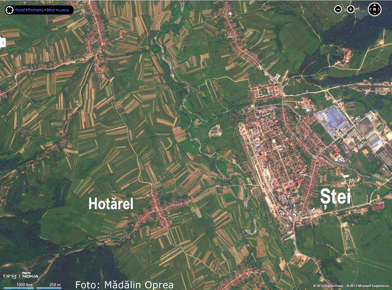 Harta Jud Bihor Satelit