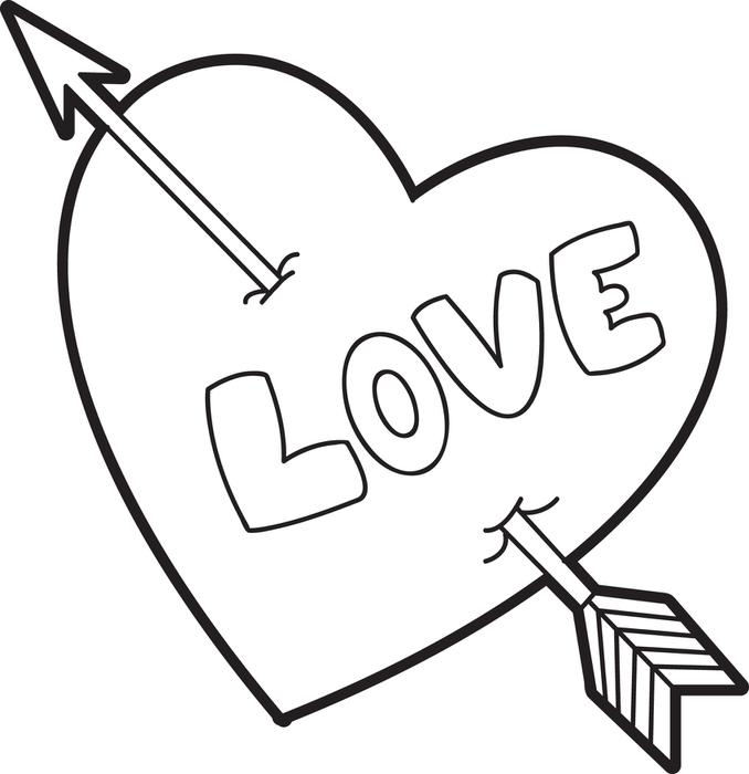 Click to see printable version of Love Heart Coloring page