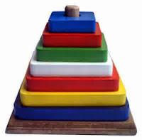 Mainan Edukatif Kayu Color Tower Kotak