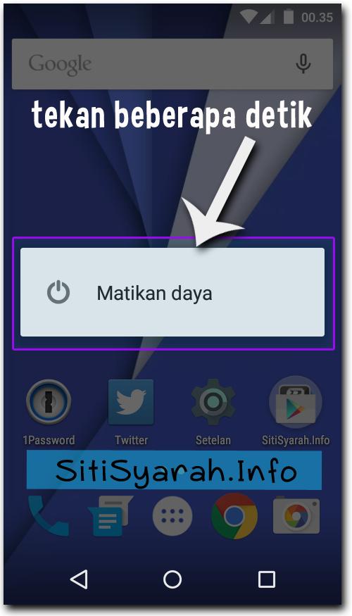 Cara masuk safe mode Android Lollipop
