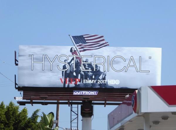 Veep season 6 Hysterical Emmy FYC billboard