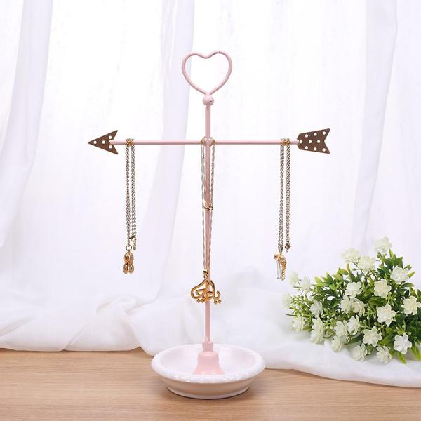 Shop Wholesale Metal Heart and Arrow Jewelry Organizer Stand at Nile Corp