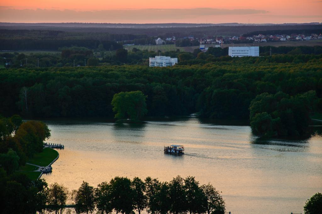 Минск закат над рекой фото