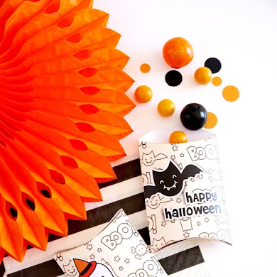 Halloween Free Printable Trick or Treat Party Boxes