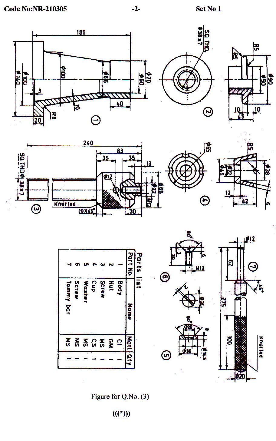 MECHANICAL: Machine Drawing model question papers