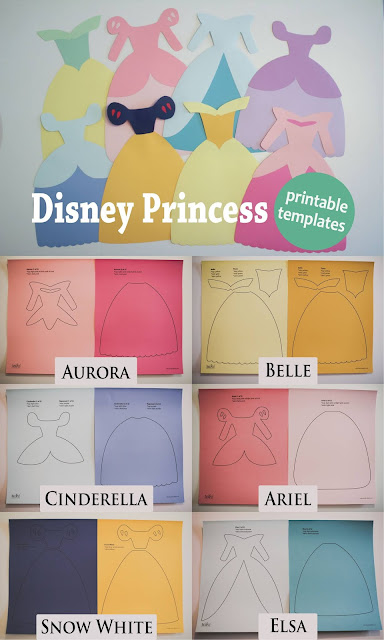 Disney Princess Dresses Templates.