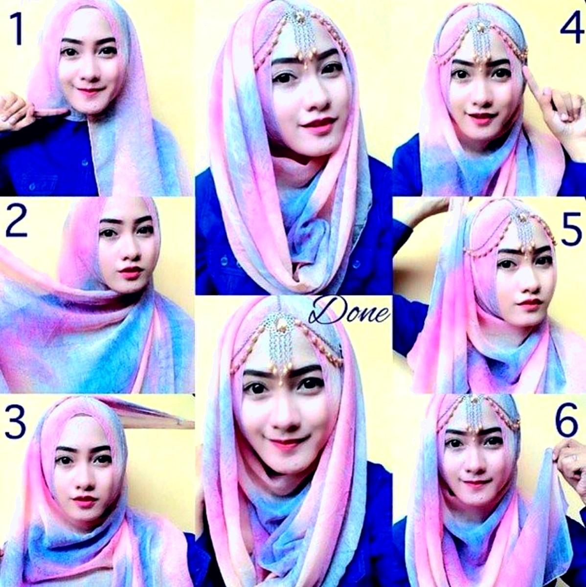 88 Gambar Menarik Tutorial Hijab Pashmina Tutup Dada Sayang