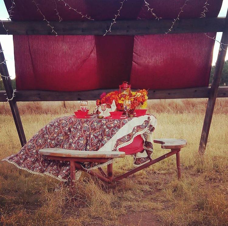 Gorgeous red sukkah | Land of Honey