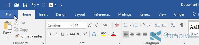 tab file microsoft word
