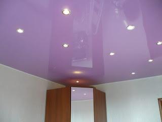 Объявления Кропоткин: натяжной потолок фиолетовый