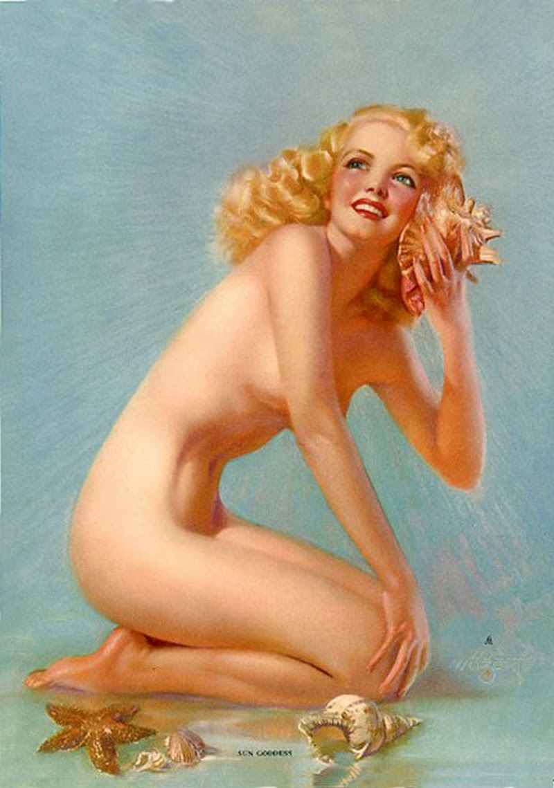 D.W.C. Pin-up Girls Nude - Painter Zoë Mozert