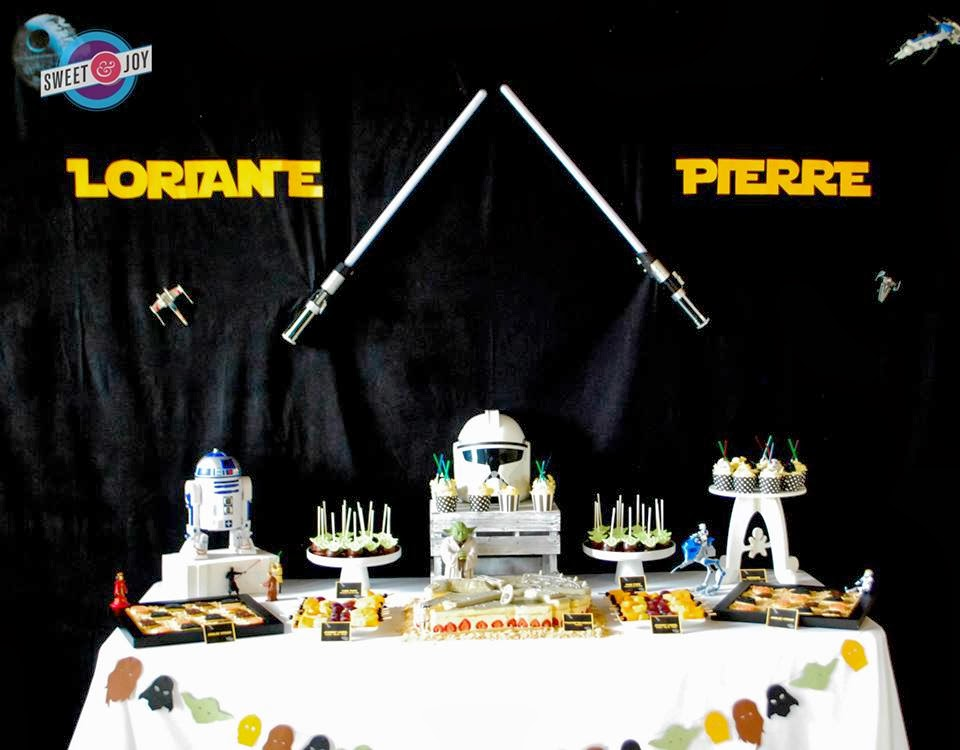 little big company the blog star wars themed wedding table by sweet and joy. Black Bedroom Furniture Sets. Home Design Ideas