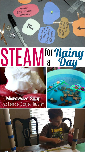 Indoor STEAM Activities for a Rainy Day
