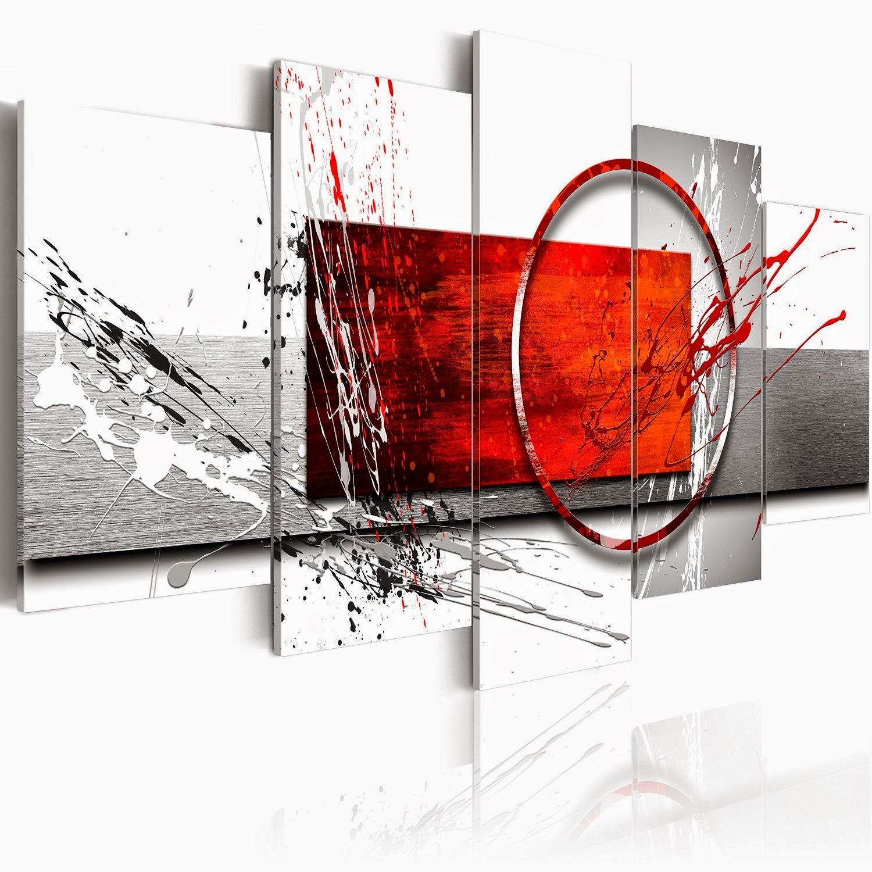 Tableau Salon Rouge | Tableau Noir Et Blanc Design Tableau Noir Et ...
