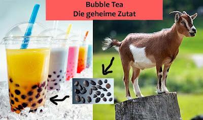 Spass Bilder Bubble Tea aus Ziegendreck