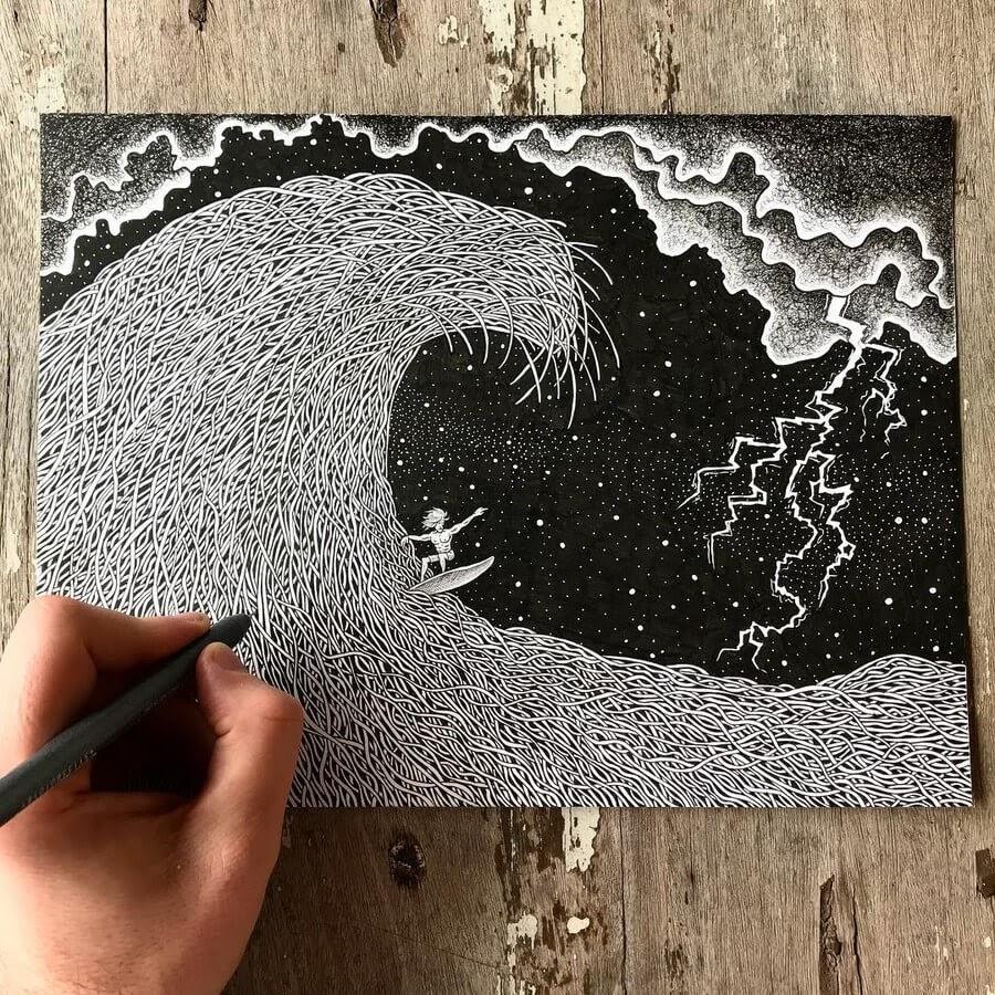06-Surfing-Ezequiel-Abramzon-Surrealism-www-designstack-co