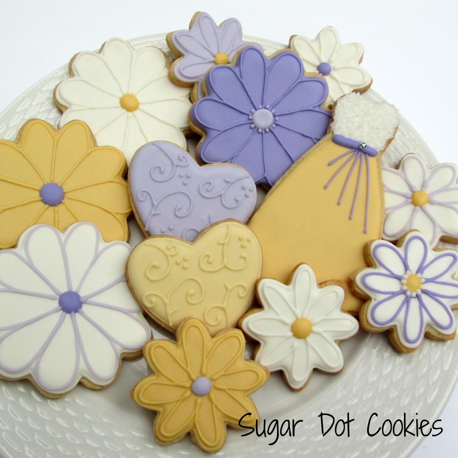 Sugar Dot Cookies: Wedding Sugar Cookies
