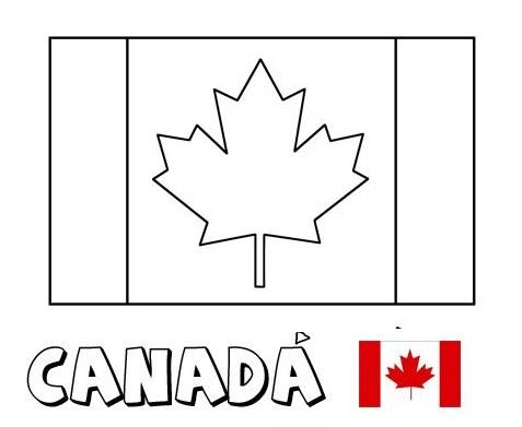 Blog de Geografia: Bandeira do Canadá para colorir