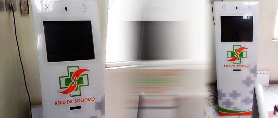 KiosK mesin antrian bahan plat besi