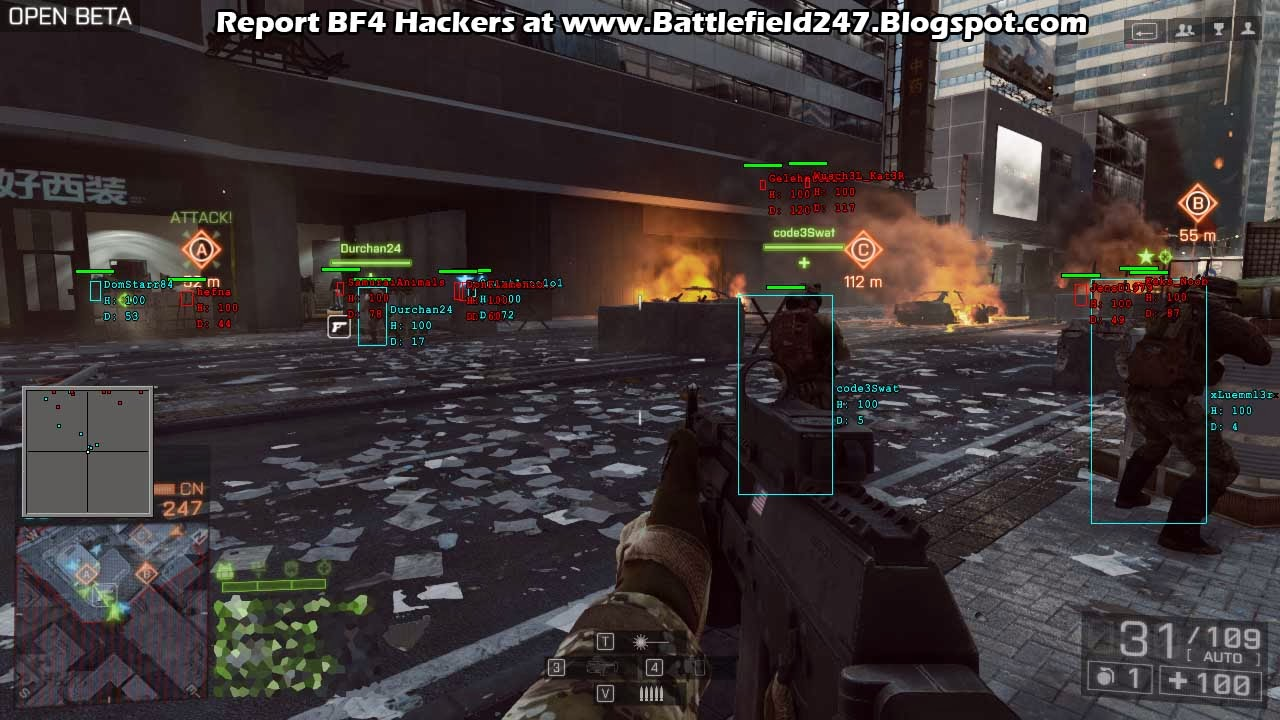 Help report battlefield 4 hackers