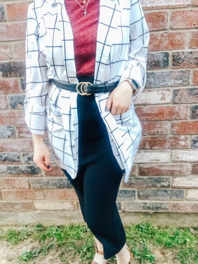 Blazer And Skirt Outfit