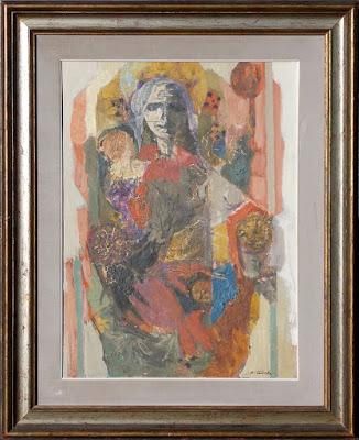 Aldo Tavella - Maternità sacra - arte - dipinti