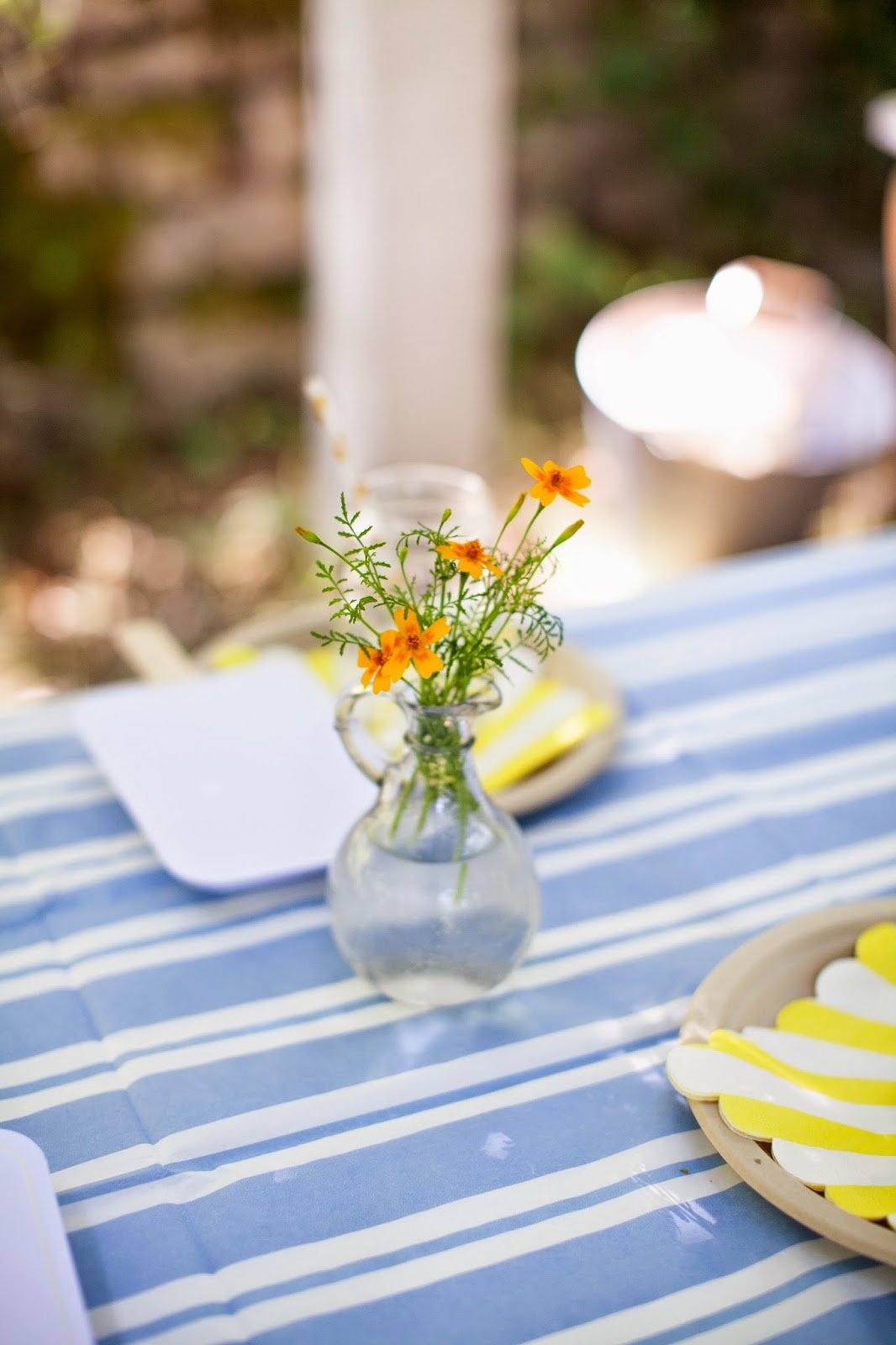 Marigolds lend a little sweetness to the table and they're bug repellant!