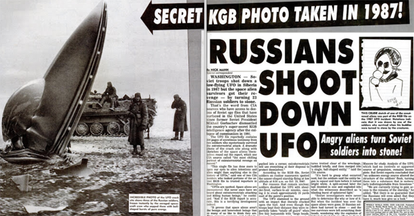 Russian Soldiers Turned to Stone After Shooting Down a UFO