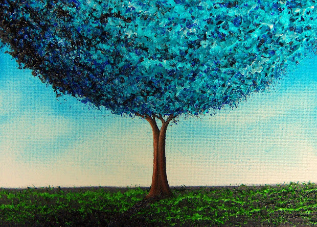 Abstract Tree Art Painting