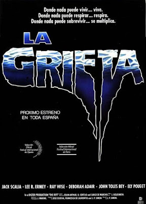 La grieta, The rift, Endless Descent, Juan Piquer Simon, Jack Scalia, R. Lee Ermey, Ray Wise, Pocholo Martínez-Bordiú, De Laurentiis