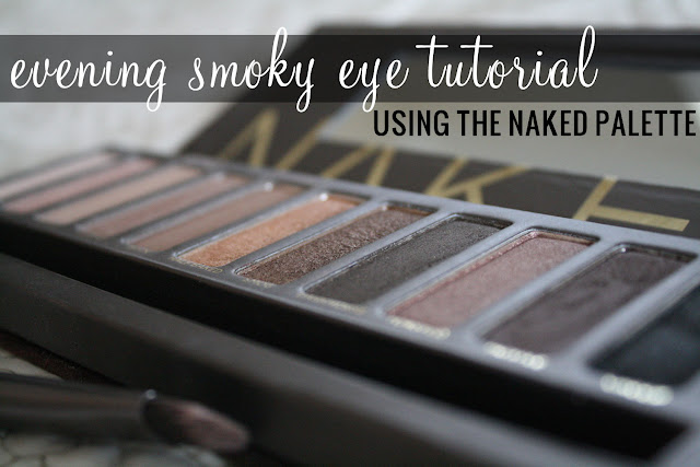 naked palette evening smoky eye tutorial