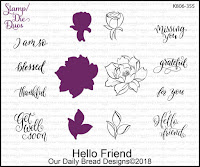 ODBD Hello Friend Stamp/Die Duo