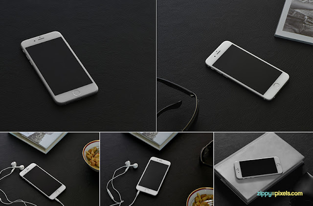 5 Free Photorealistic iPhone 6s PSD Mockups