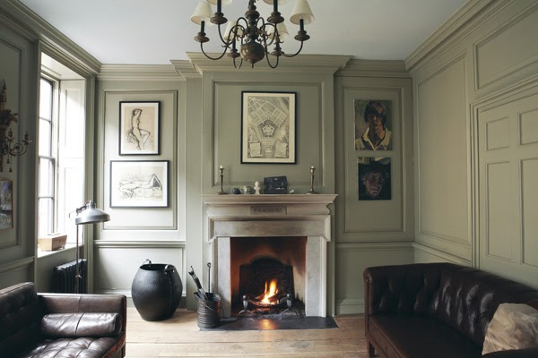 Modern country style colour study farrow and ball french gray - Best colour for study room ...