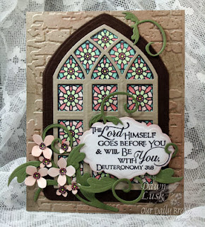 ODBD Products - ODBD Custom Cathedral Window and Border Dies, ODBD Custom Antique Labels and Border Die, Cathedral Window - Wood