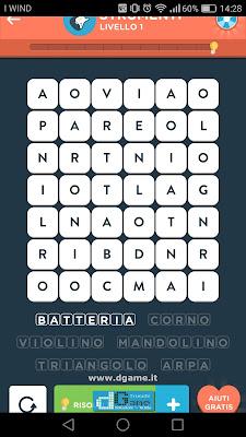 WordBrain 2 soluzioni: Categoria Strumenti (6X7) Livello 1
