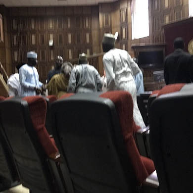 Commotion In Court As DSS Men Forcefully Abducts Buhari's Aide After Granted Bail, See Photos